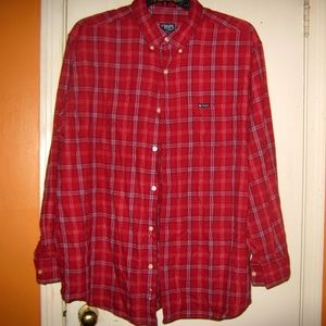 Chaps Red Plaid Flannel XXL Shirt